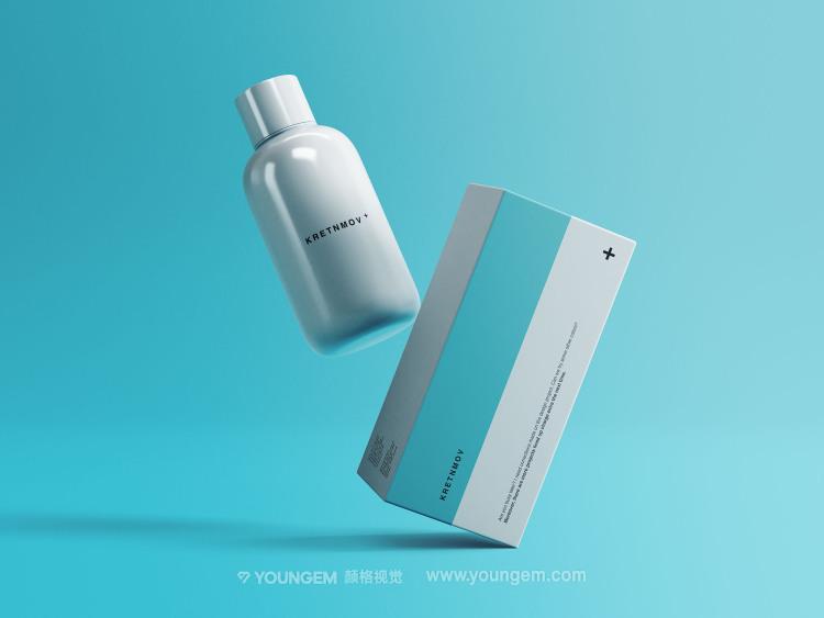 医疗药品保健品悬浮产品包装样机素材素材