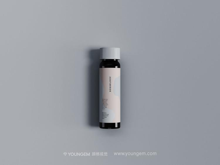迷你滴管玻璃瓶产品包装样机素材图片