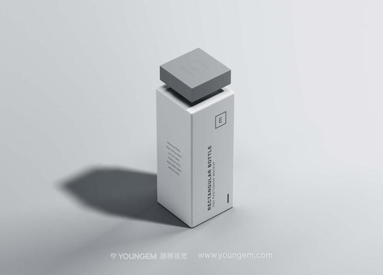 矩形哑光美妆护肤瓶产品包装样机素材图片