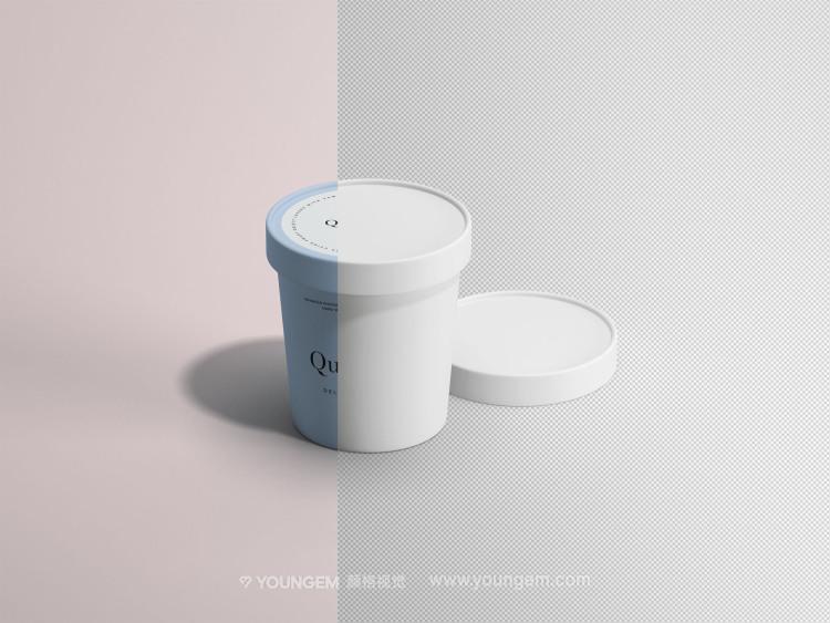 冰激凌冷饮纸杯产品包装样机素材素材