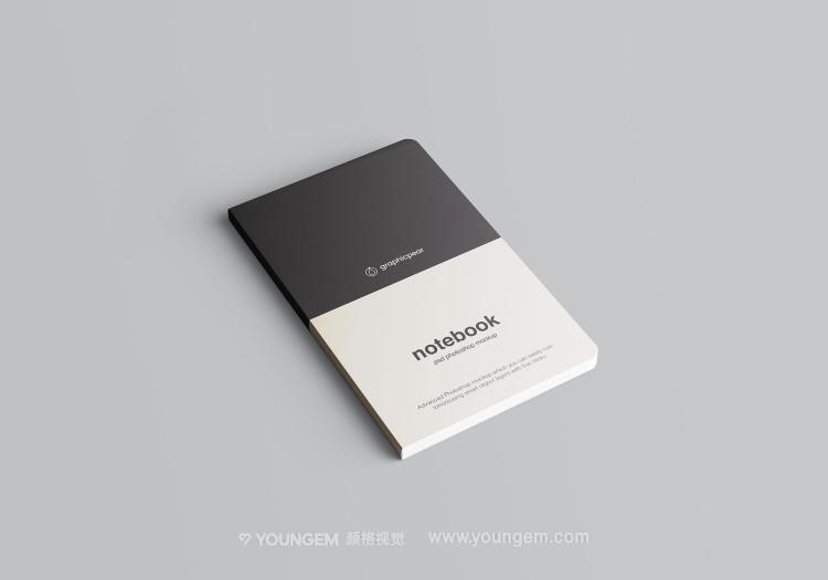 质感多角度笔记本文具样机素材模板