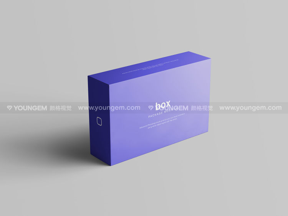 矩形纸盒礼盒包装盒多角度样机素材模板