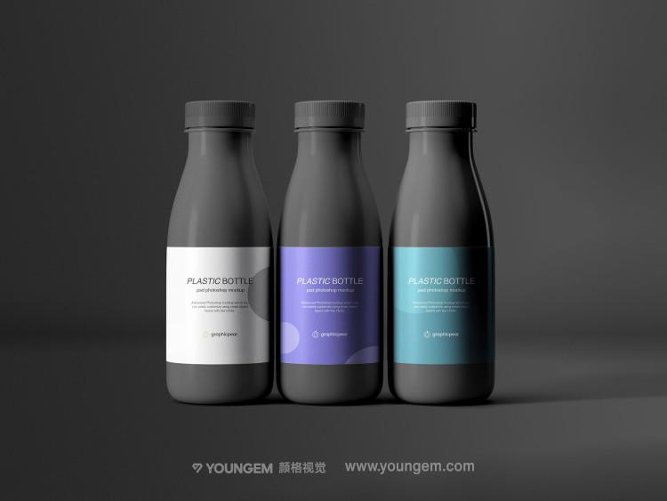 塑料组合饮料瓶产品包装样机展示素材素材