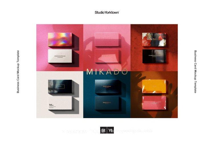 Mikado烫金压印uv工艺商务名片vi贴图ps样机设计素材mockup源文件图片