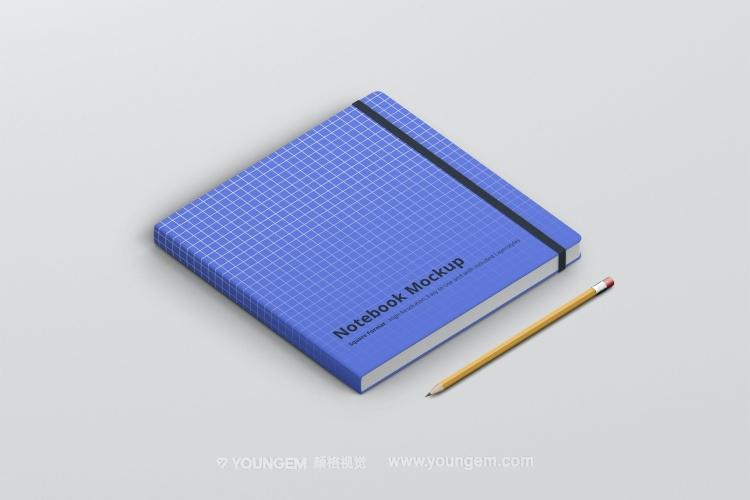 正方形素描速写绘画笔记本文具vi贴图ps样机素材mockup展示模板图片