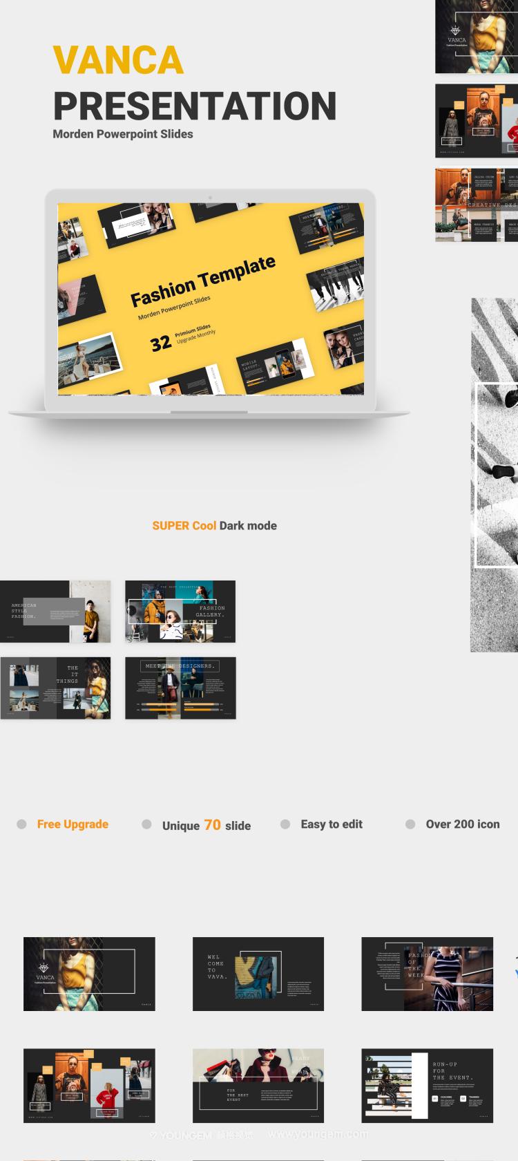 32张创意画册作品展示PPT模板免费下载图片