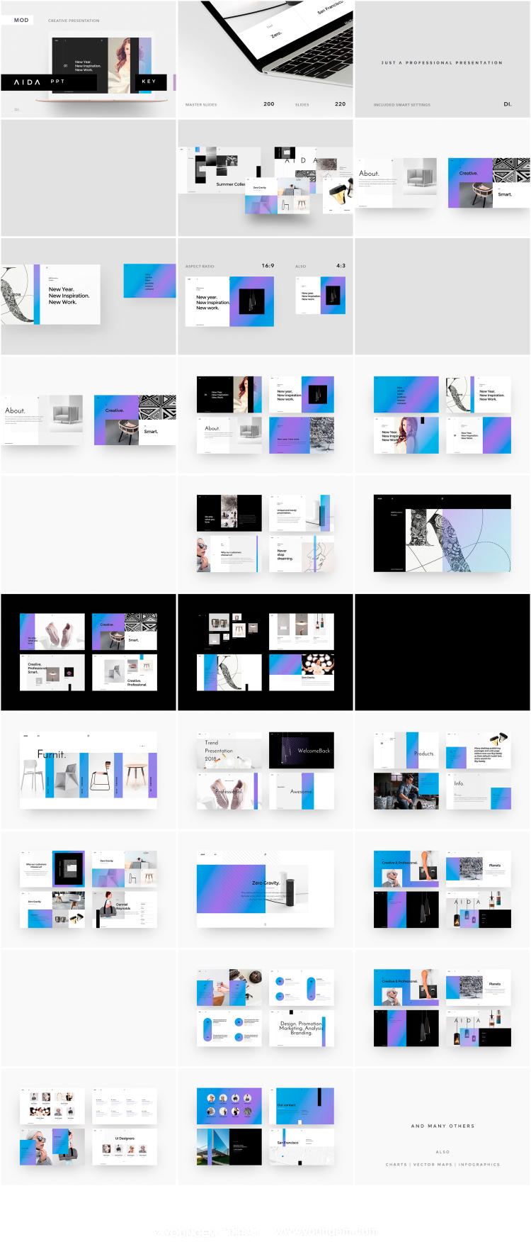 企业市场营销创意提案PPT模板演示文稿模板