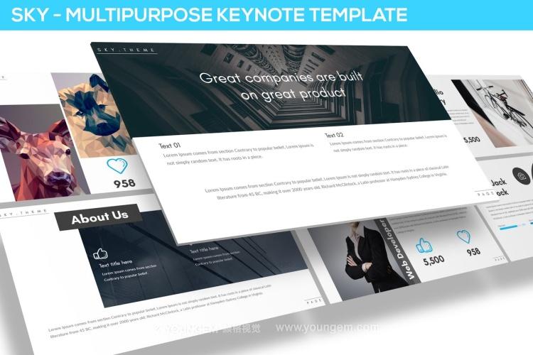 创意金融项目提案商业PPT模板演示文稿(key格式)图片
