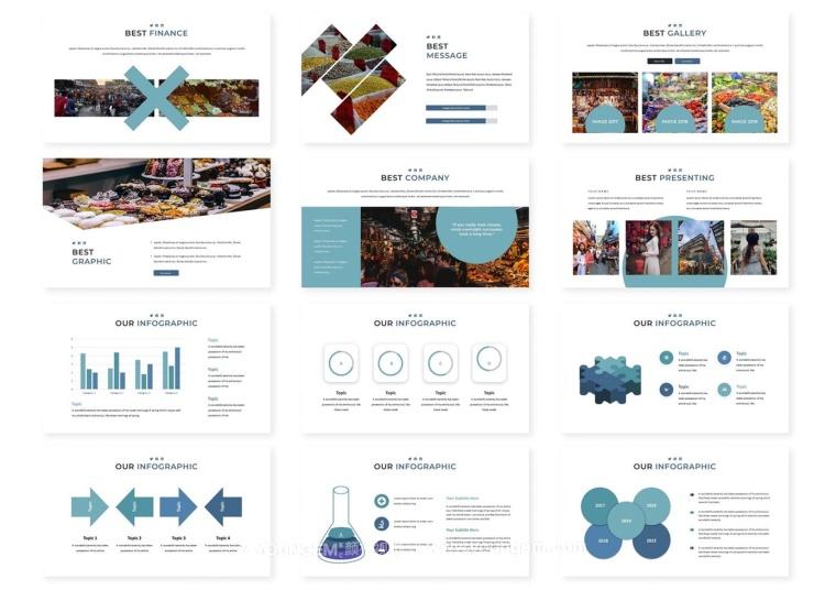 150款商业PPT模板演示文稿模板