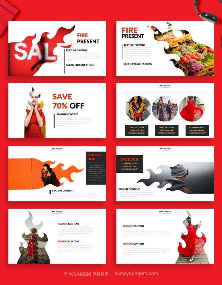 创意炫酷销售业务工作汇报PPT模板演示文稿模板