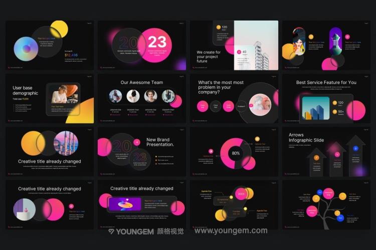 商业项目信息图表展示PPT模板演示文稿模板