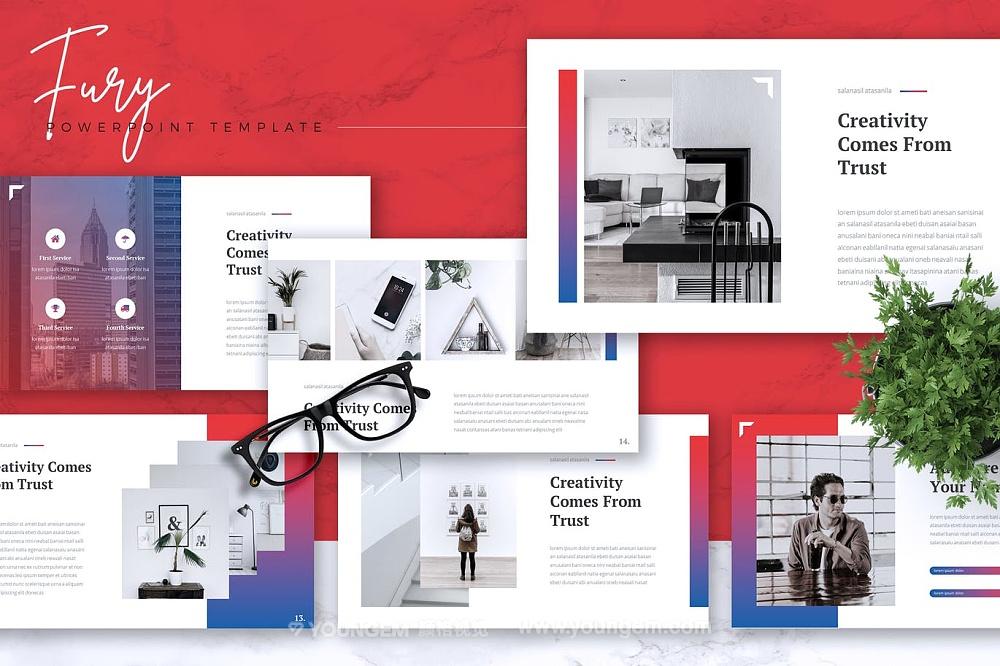 创意项目商业PPT模板演示文稿图片