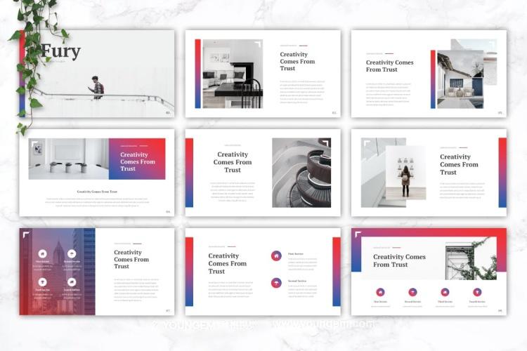 创意项目商业PPT模板演示文稿素材