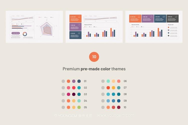 创意项目商业PPT模板演示文稿key模板