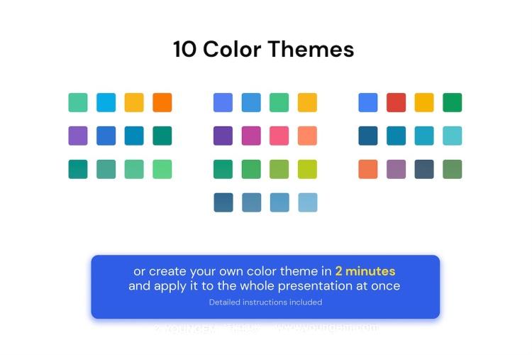 企业项目信息图表展示PPT模板演示文稿key模板