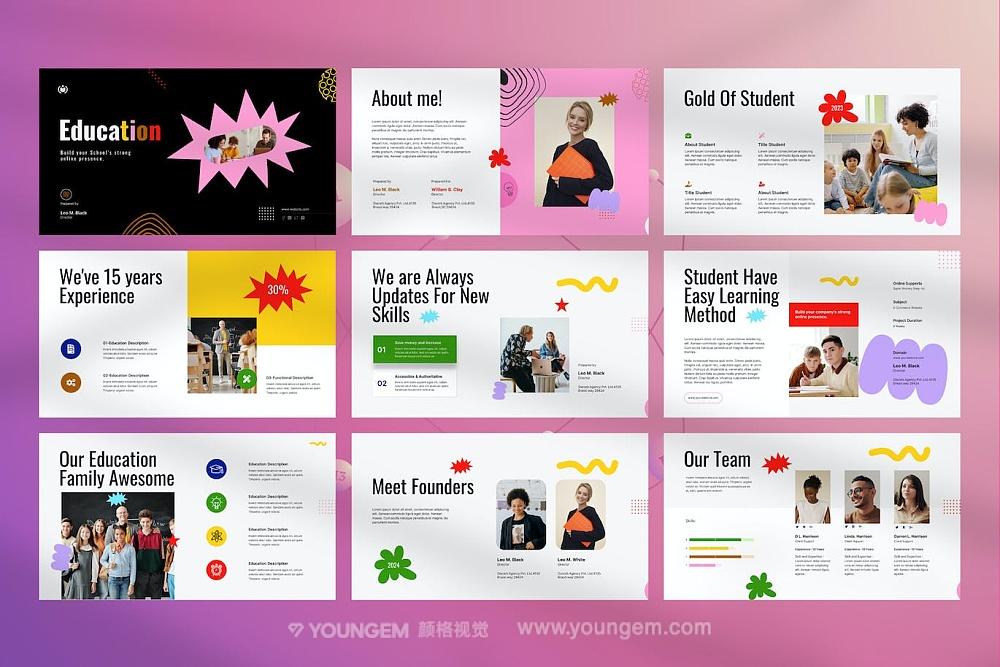 竖版创意杂志手册展示PPT模板演示文稿模板