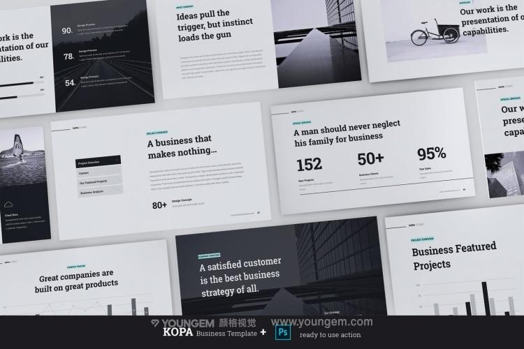 多用途信息图表商业PPT模板演示文稿图片