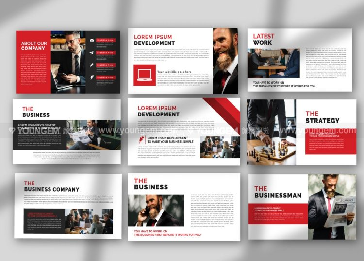 现代经典商业PPT模板演示文稿素材