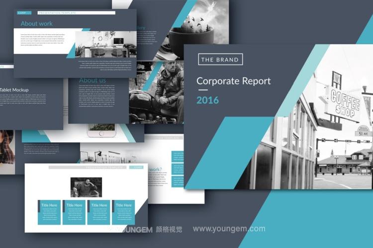 公司项目介绍商业PPT模板(key格式)图片