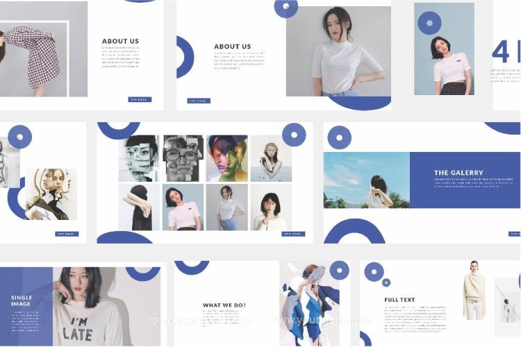 创意时尚摄影作品展示PPT模板演示文稿图片