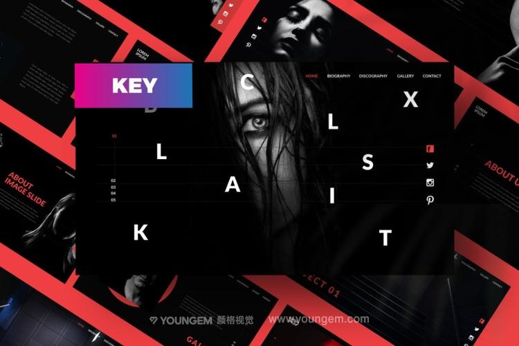 黑色质感商务PPT模板演示文稿(key格式)图片