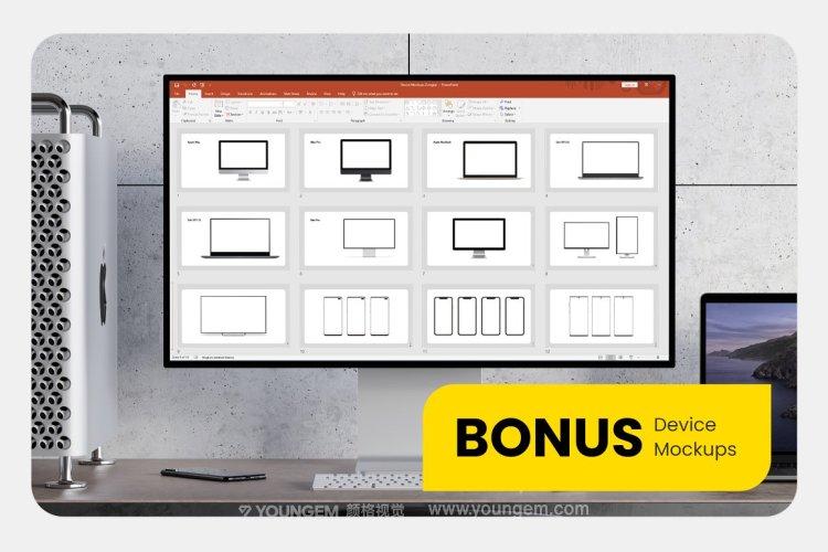 简约时尚创意现代PPT模板演示文稿(key格式)素材