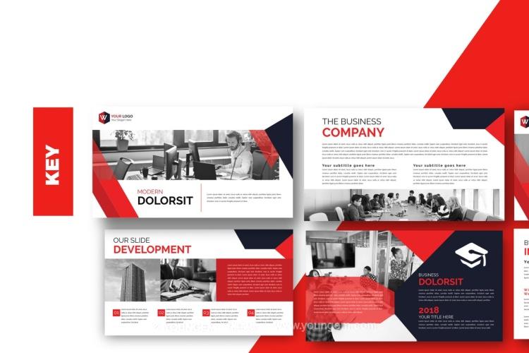 现代简约商业免费PPT模板下载图片