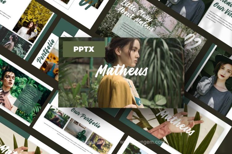 相册展览展示免费PPT模板下载图片