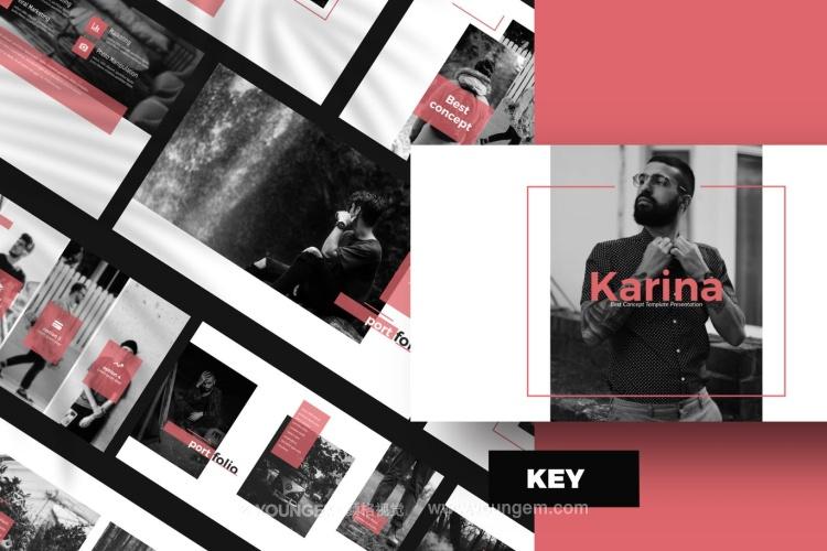 生活作品展示免费PPT模板下载(key格式)图片