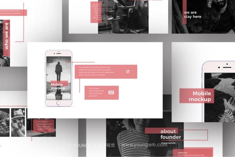 生活作品展示免费PPT模板下载(key格式)素材
