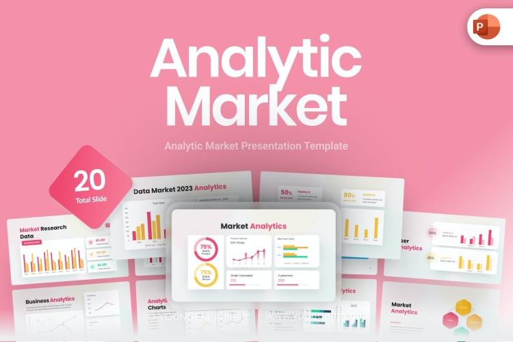 广告营销推广商业PPT模板演示文稿图片