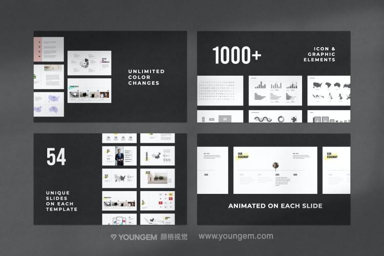 简约时尚相册展示PPT模板演示文稿模板