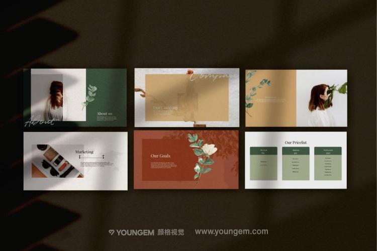 时尚杂志相册展示PPT模板演示文稿素材