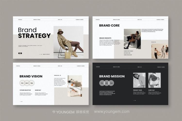 复古相册展示PPT模板演示文稿素材