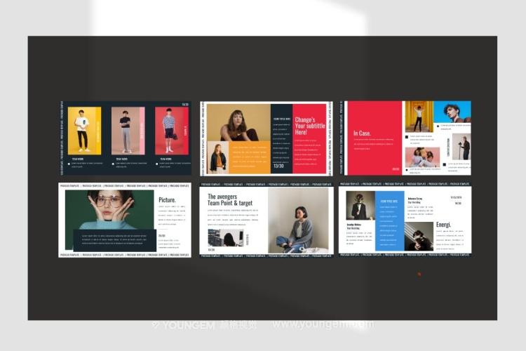 时装杂志展示PPT模板演示文稿模板