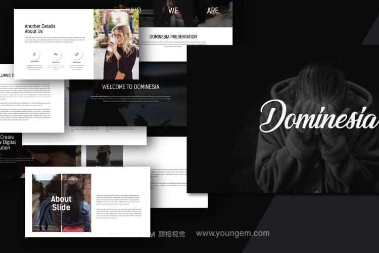简约时尚商务PPT模板演示文稿图片