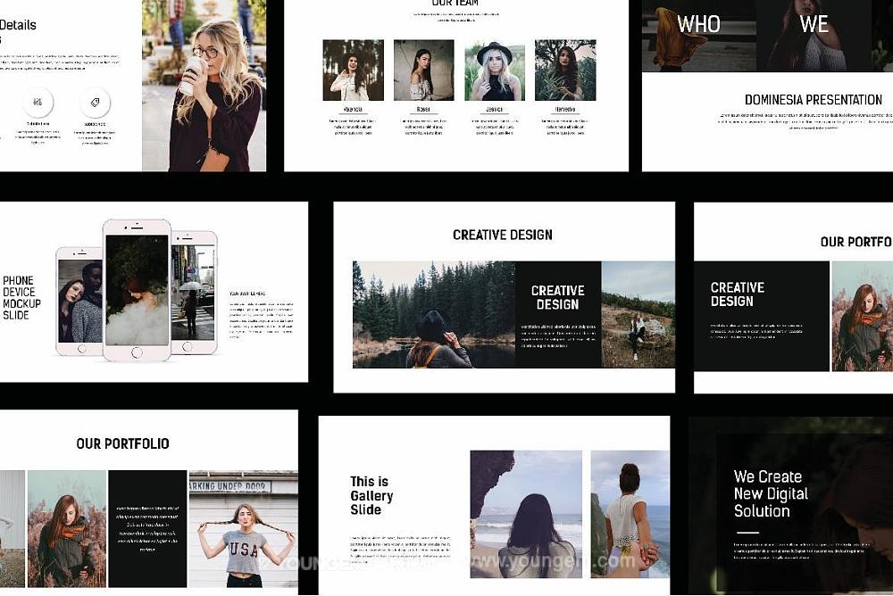 简约时尚商务PPT模板演示文稿模板