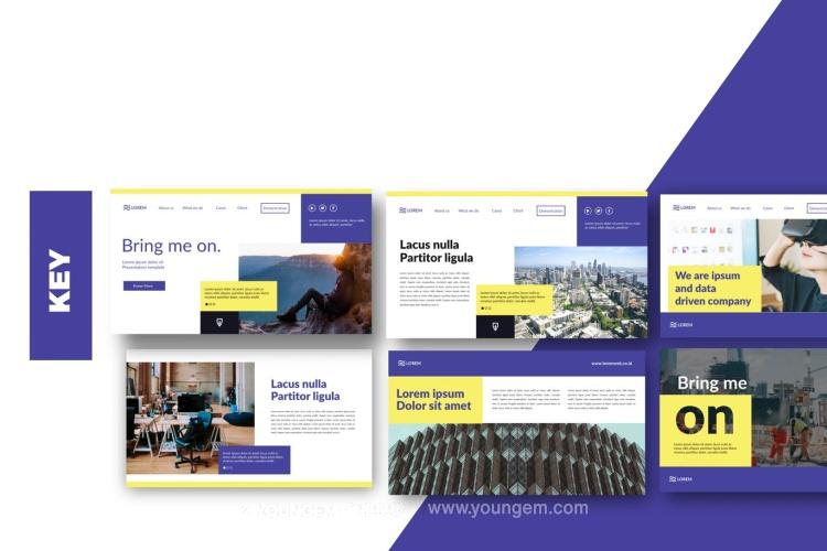 项目合作推广商业PPT模板演示文稿(key格式)图片