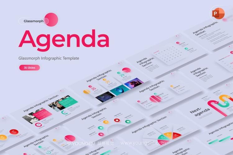 创意简洁画册相册展示PPT模板演示文稿(key格式)图片