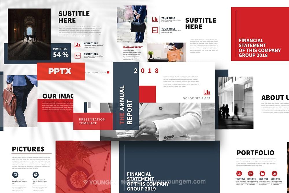 企业项目合作商务PPT模板演示文稿图片