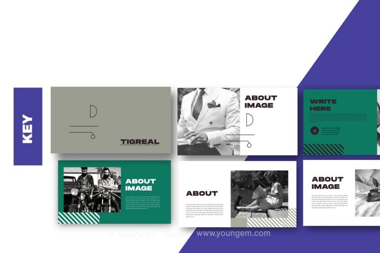 创意简洁时尚商业PPT模板演示文稿(key格式)图片