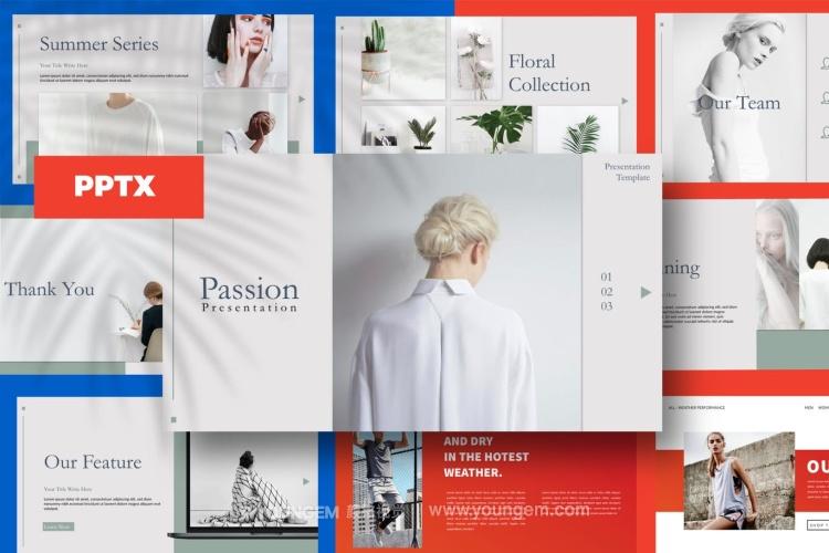 企业项目产品介绍PPT模板演示文稿图片