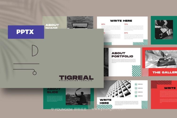 创意简洁时尚商业PPT模板演示文稿图片