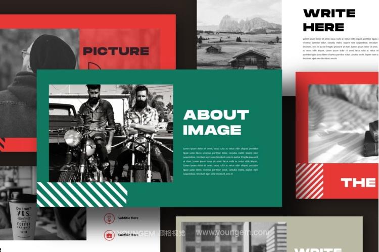 创意简洁时尚商业PPT模板演示文稿素材