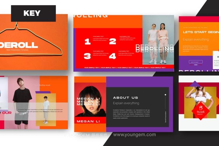 创意炫彩商业PPT模板演示文稿(key格式)图片