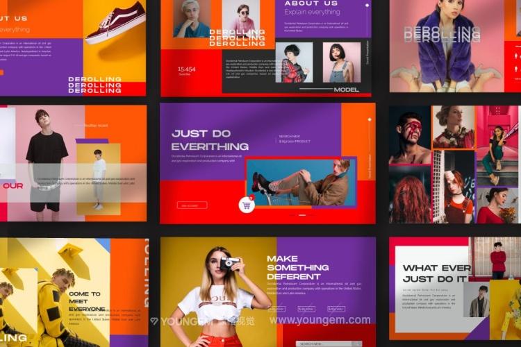创意炫彩商业PPT模板演示文稿素材