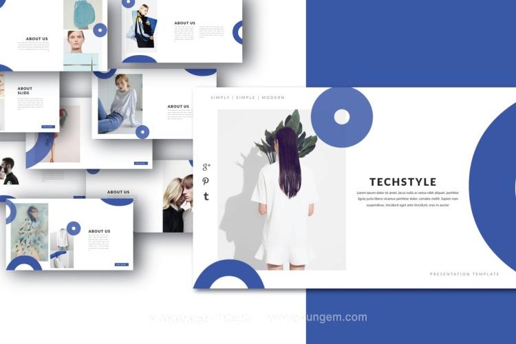 创意时尚摄影作品展示PPT模板演示文稿(key格式)图片