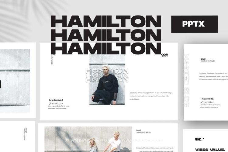 创意时装展示PPT模板演示文稿图片