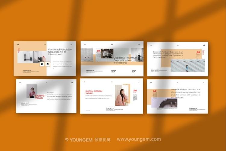 现代潮流项目作品展示PPT模板演示文稿(key格式)素材