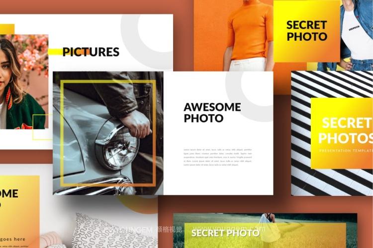 多功能创意时尚生活旅行主题PPT演示文稿模板图片